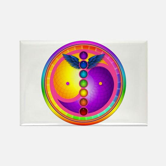 Chakra Mandala Rectangle Magnet