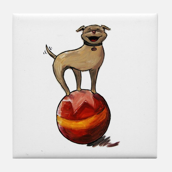Tripawds Have A Ball Tile Coaster
