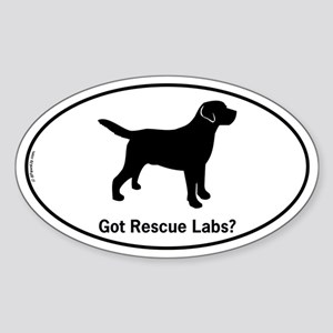 Got Rescue Labs II Sticker (Oval)