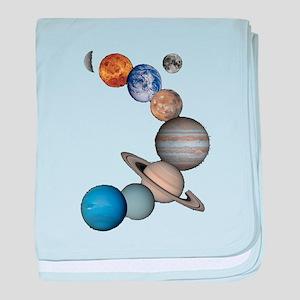 Planet Swirl baby blanket