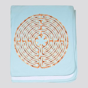 Chartres Labyrinth Pearl baby blanket