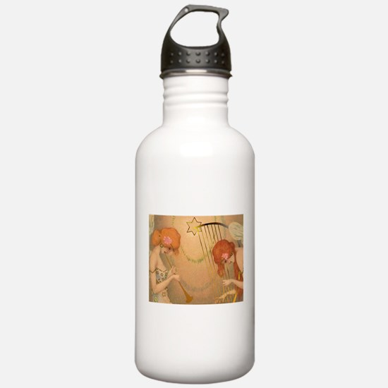 Jamming Angels Holiday Water Bottle