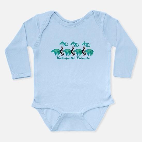 Kokopelli Parade Long Sleeve Infant Bodysuit