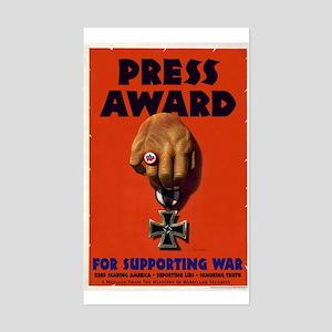 Press Award Rectangle Sticker