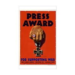 Press Award Rectangle Decal