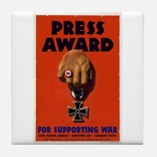 Press Award Tile Coaster