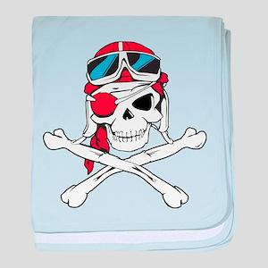 Pirate Skull/Skeleton baby blanket