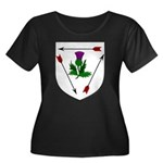 Magda's Women's Plus Size Scoop Neck Dark T-Shirt