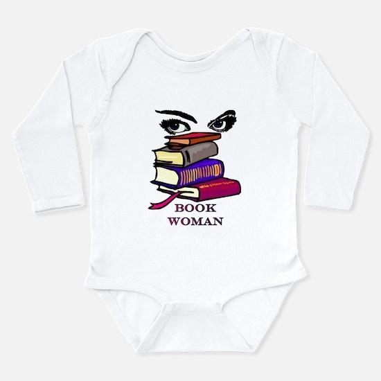 Book Woman Long Sleeve Infant Bodysuit