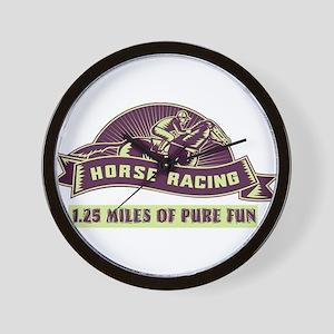 horse racing Wall Clock