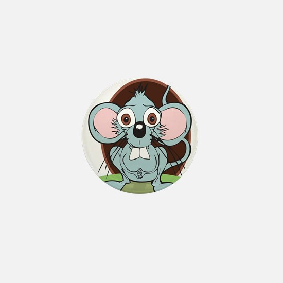 The Worried Mouse Mini Button