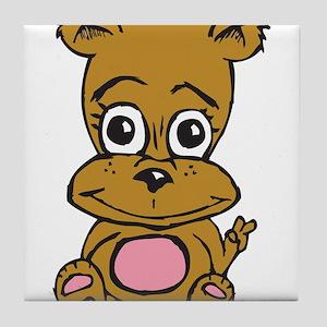 Peace Bear For Girls Tile Coaster