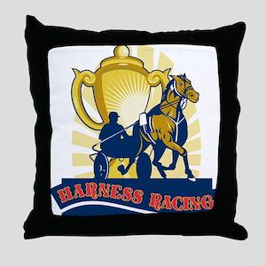 harness racing silkies Throw Pillow