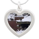 Quail in the snow Necklaces