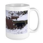 Quail in the snow Mugs