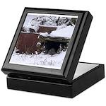 Quail in the snow Keepsake Box