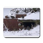Quail in the snow Mousepad