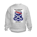 18TH INFANTRY REGIMENT-FORT RILEY Kids Sweatshirt