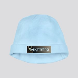 Weightlifting Old School baby hat