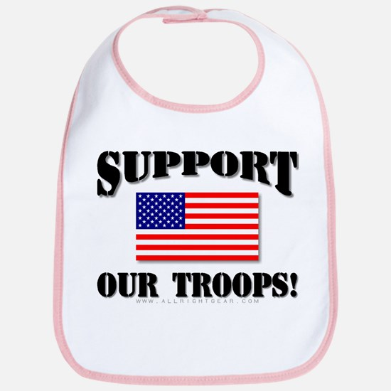 Support Our Troops Flag Bib