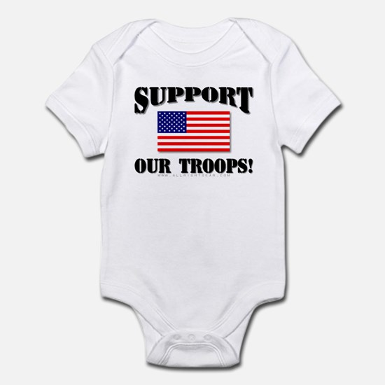 Support Our Troops Flag Infant Creeper