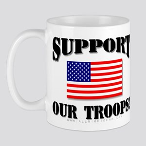 Support Our Troops Flag Mug