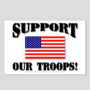 Support Our Troops Flag Postcards (Package of 8)