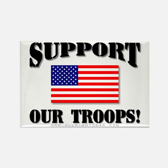 Support Our Troops Flag Rectangle Magnet (10 pack)