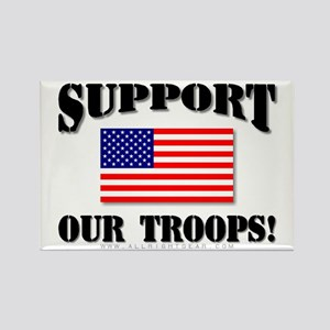 Support Our Troops Flag Rectangle Magnet
