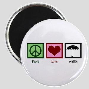Peace Love Seattle Magnet