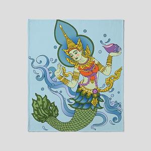 Hindu Mermaid Throw Blanket