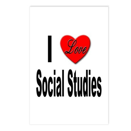I Love Social Studies Postcards (Package of 8)