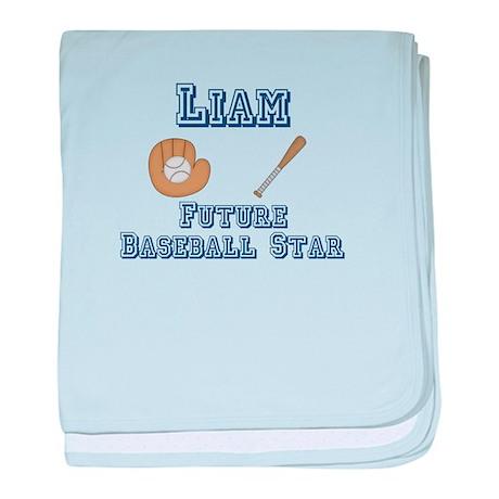 Liam - Future Baseball Star baby blanket
