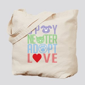Spay Neuter Adopt Love 2 Tote Bag