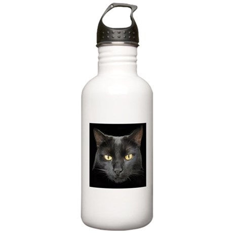 Beautiful Black Cat Stainless Water Bottle 1.0L