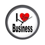 I Love Business Wall Clock