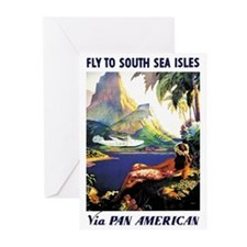 'Fly To South Sea Isles' Greeting Cards (Package o