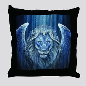 Winged Lion Throw Pillow