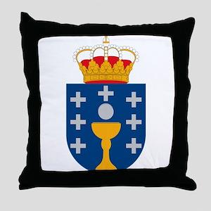 Galicia Coat of Arms Throw Pillow