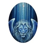 Winged Lion Ornament (Oval)
