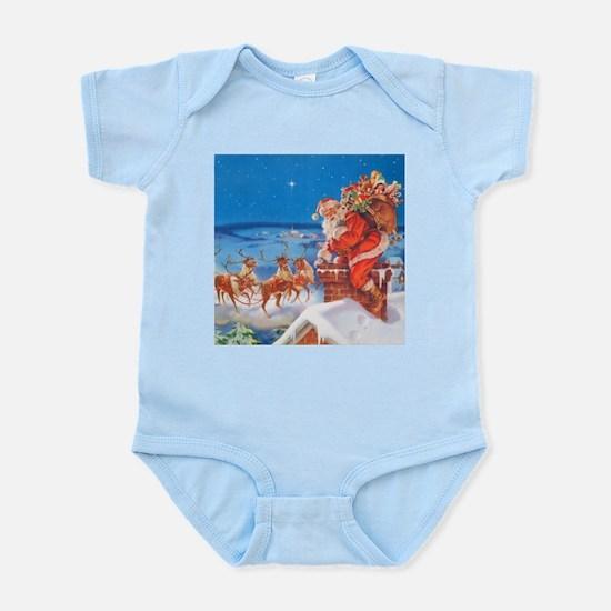 Santa Up On the Rooftop Infant Bodysuit