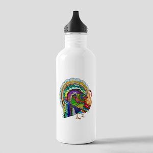 Patchwork Thanksgiving Turkey Stainless Water Bott