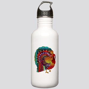 Thanksgiving Jeweled Turkey Stainless Water Bottle