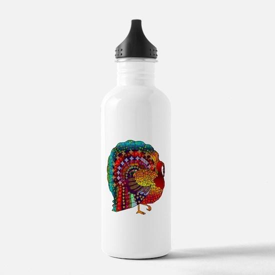 Thanksgiving Jeweled Turkey Water Bottle