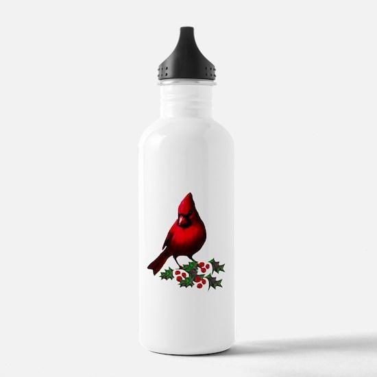 Christmas Cardinal Water Bottle