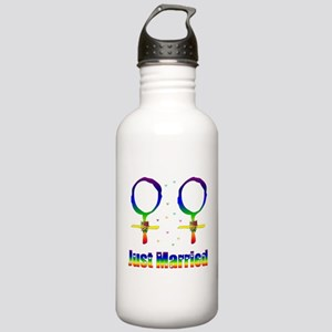 Just Married Lesbians Stainless Water Bottle 1.0L
