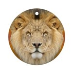 African Lion Ornament (Round)