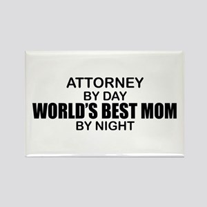 World's Best Mom - Attorney Rectangle Magnet