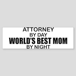 World's Best Mom - Attorney Sticker (Bumper)