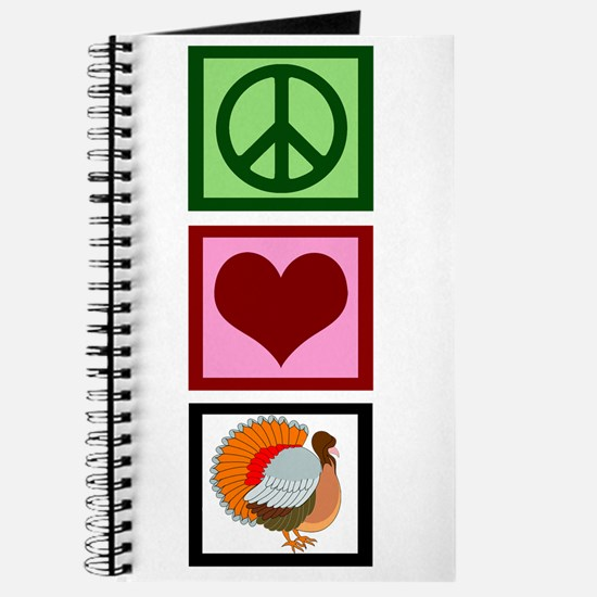 Peace Love Thanksgiving Journal